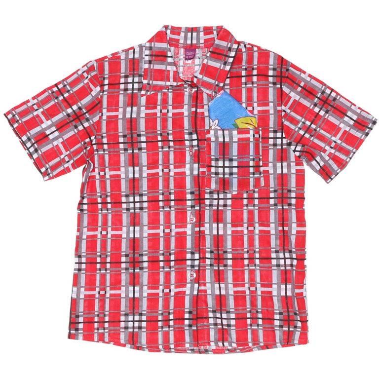 Camisa Caipira Vermelha Com Lenço