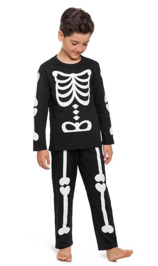 Pijama Esqueleto Longo