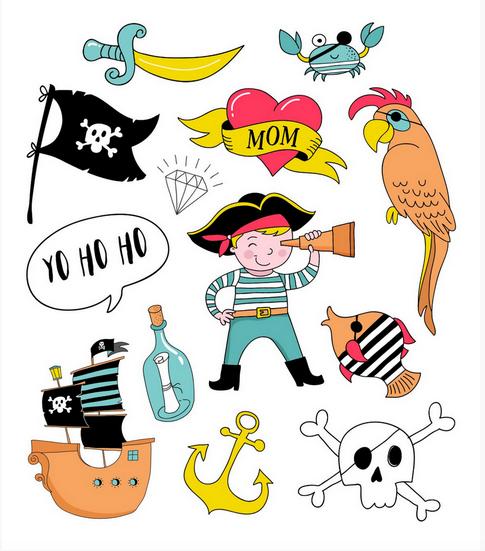 Tatuagem Temporária Pirata