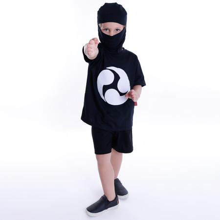 Camiseta Ninja Com Máscara