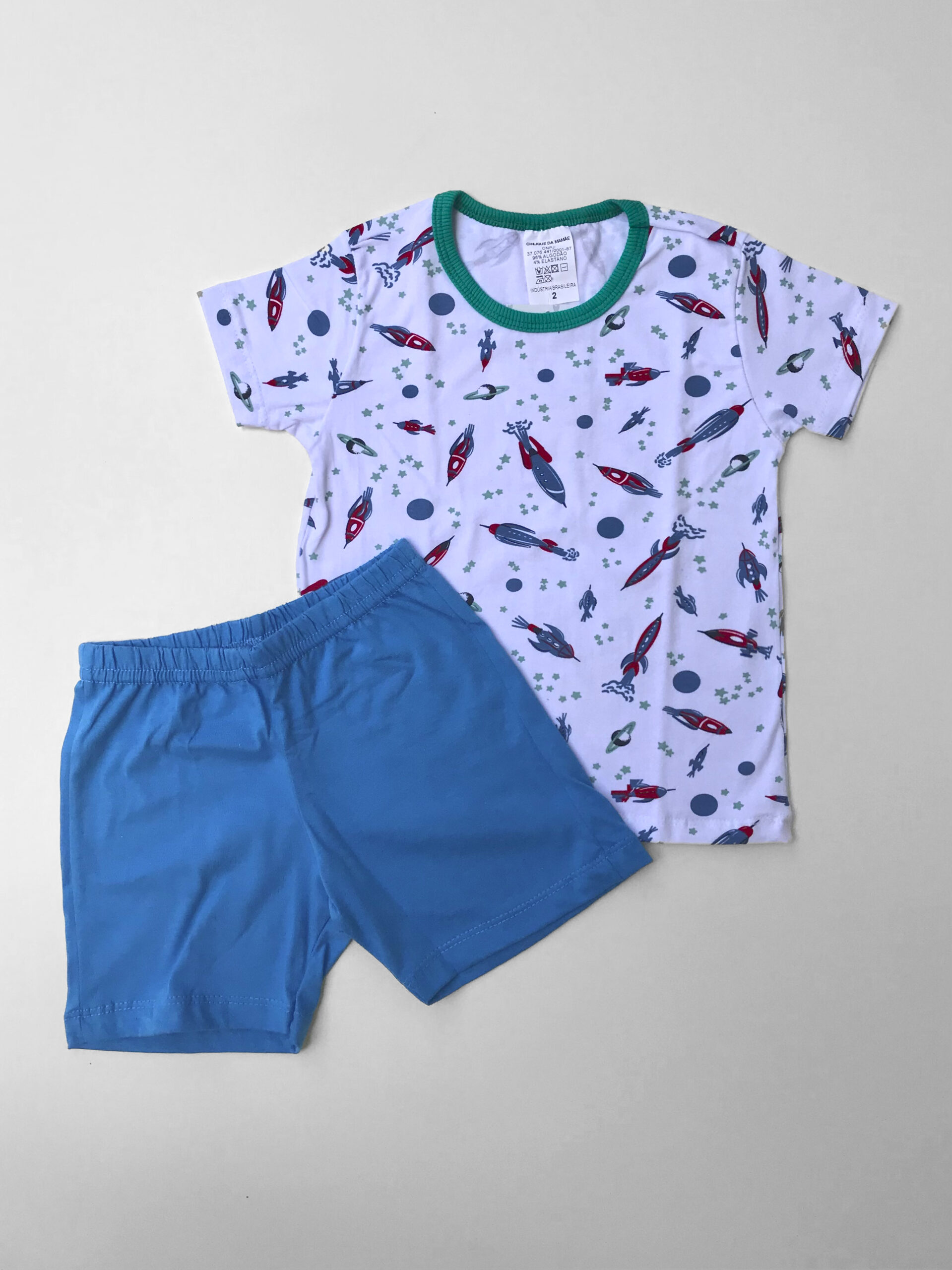 Pijama Curto Foguete