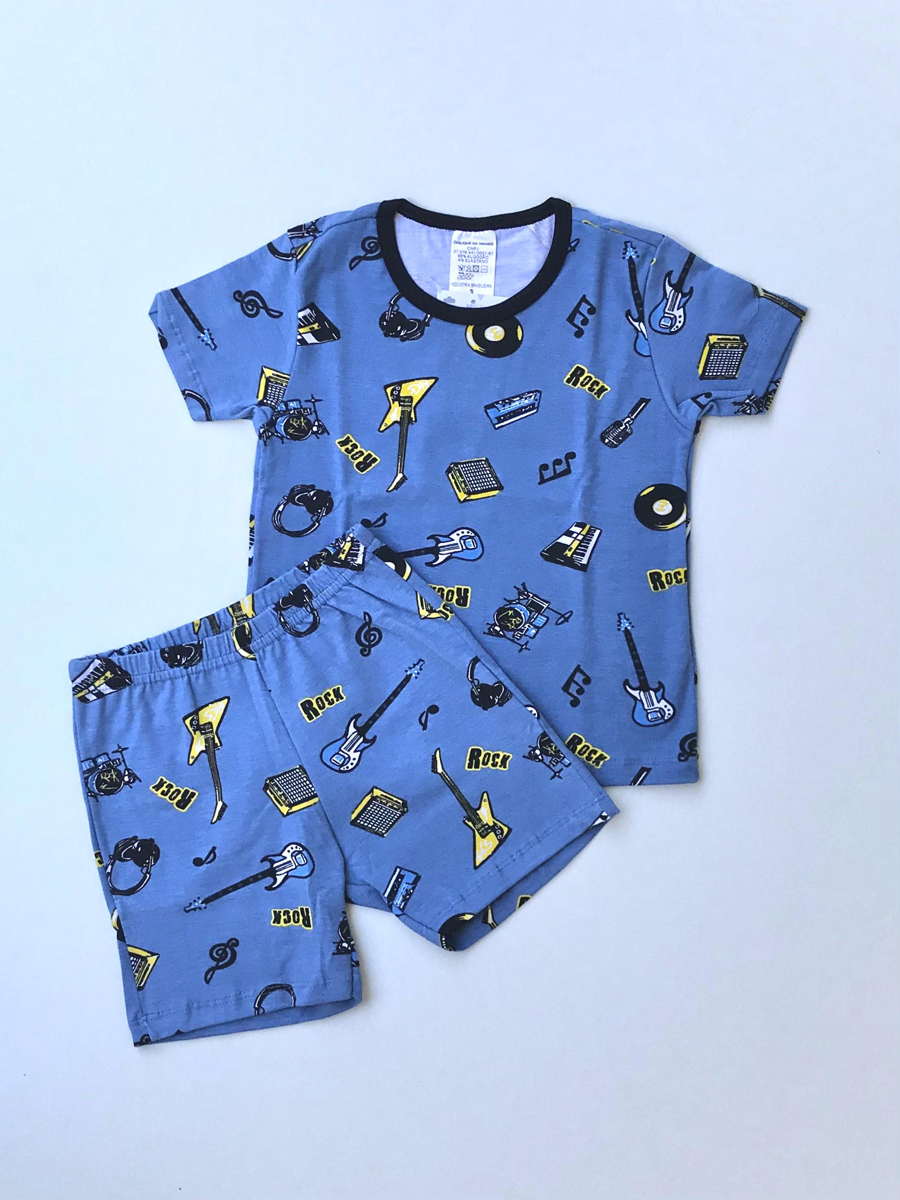 Pijama Curto Rock