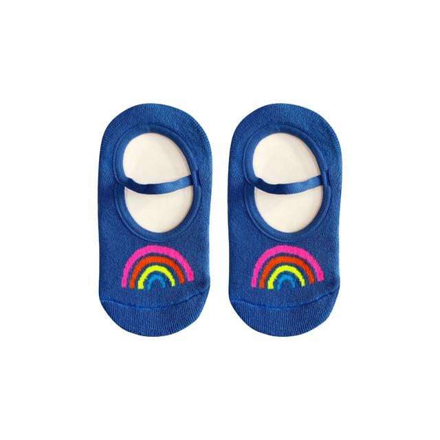 Meia Sapatilha Arco Iris Neon