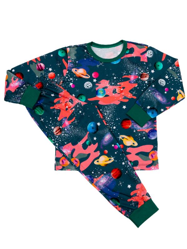 Pijama Manga Longa Perdidos No Espaço