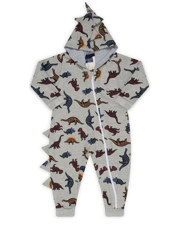 Pijama Macacão Dino Mescla