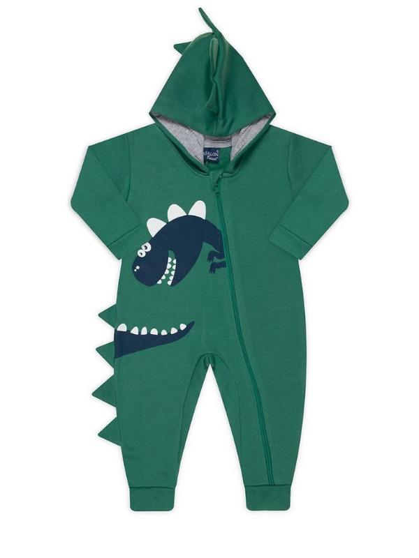 Pijama Macacão Dino Verde
