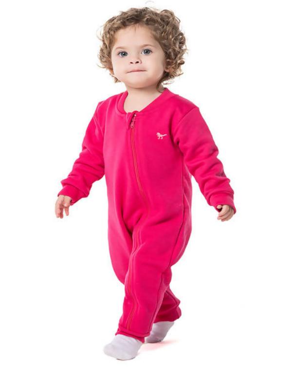 Pijama Macacão Moletom Pink