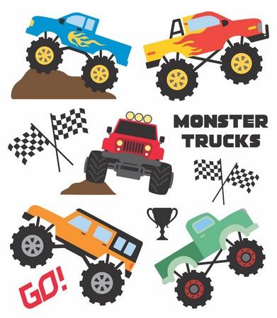 Tatuagem Temporária Monster Trucks