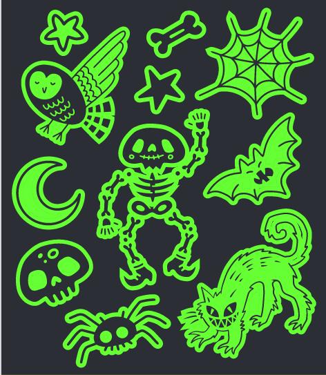Tatuagem Brilha No Escuro Skeleton