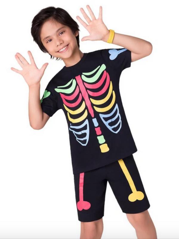 Pijama Esqueleto Color