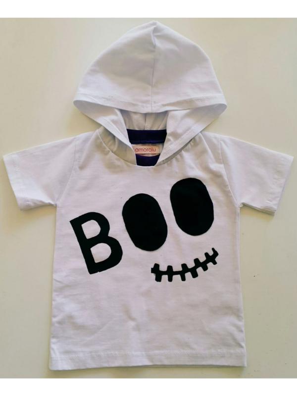 Camiseta Fantasma Boo Com Led