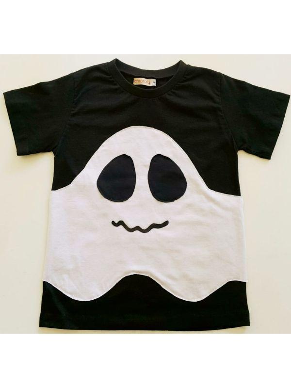 Camiseta Fantasma Preta Com Led